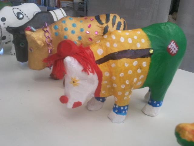 koeien schilderen, teamuitje,schilderworkshop