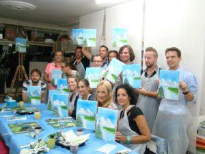 bob ross beleving,olieverf,landschap,iedereen kan schilderen,happy painting