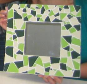 mozaiekspiegel, mozaiek individueel, Guadi, vrijgezellen, familieworkshop, workshop mozaiek, mozaiektegels